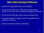 open meta analyst software