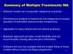 summary of multiple treatments ma
