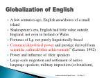 globalization of english
