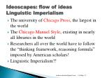 ideoscapes flow of ideas linguistic imperialism