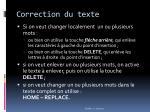 correction du texte