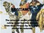 legitamcy
