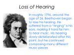 loss of hearing