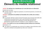 l ments du mod le relationnel