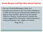 ernst renan and his idea about nation