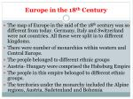 europe in the 18 th century