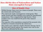 how did the idea of nationalism and n ation state emerged in europe