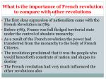 what is the importance of french revolution to compare with other revolutions