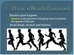 physical health continued