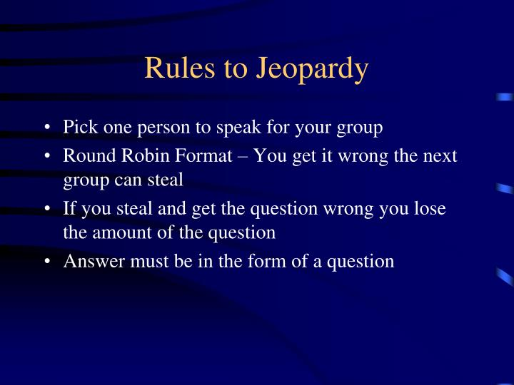 rules to jeopardy n.