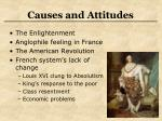 causes and attitudes