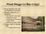 first stage 1789 1793
