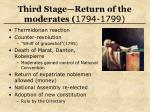 third stage return of the moderates 1794 1799