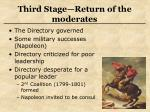 third stage return of the moderates
