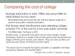 comparing the cost of college