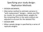 specifying your study design replication methods