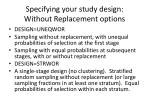specifying your study design without replacement options1