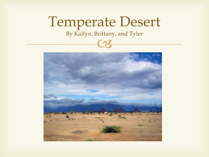 temperate desert by kailyn brittany and tyler n.