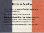 divisions develop
