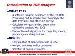 introduction to idb analyzer