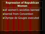repression of republican women
