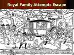 royal family attempts escape