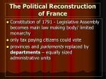 the political reconstruction of france