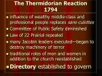 the thermidorian reaction 1794