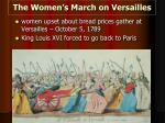the women s march on versailles