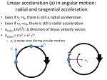linear acceleration a in angular motion radial and tangential acceleration