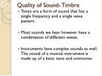 quality of sound timbre