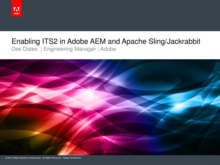 enabling its2 in adobe aem and apache sling jackrabbit n.