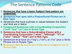 the sentence patterns code