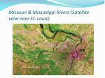 missouri mississippi rivers satellite view near st louis