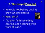 7 the gospel preached
