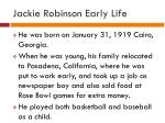 jackie robinson early life