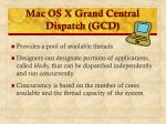 mac os x grand central dispatch gcd