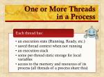 one or more threads in a process