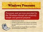 windows processes