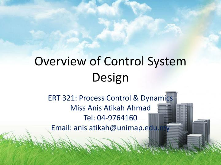 overview of control system design n.