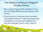 the influence of process design on process control2