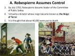 a robespierre assumes control