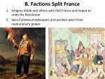 b factions split france1