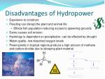 disadvantages of hydropower