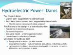 hydroelectric power dams