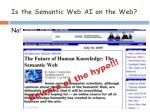 is the semantic web ai on the web