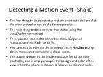 detecting a motion event shake