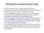testing the accelerometer app