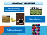 important industries