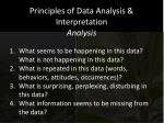 principles of data analysis interpretation analysis1